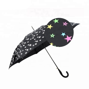 RST new fashion style auto open colorful star design magic color changing umbrella