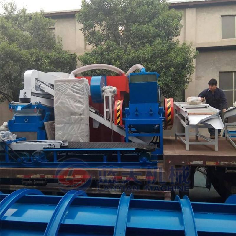 Best seller máquina de reciclagem granulador separador de fio de cobre sucata de cabos do sistema de separação magnética ficar puro cobre