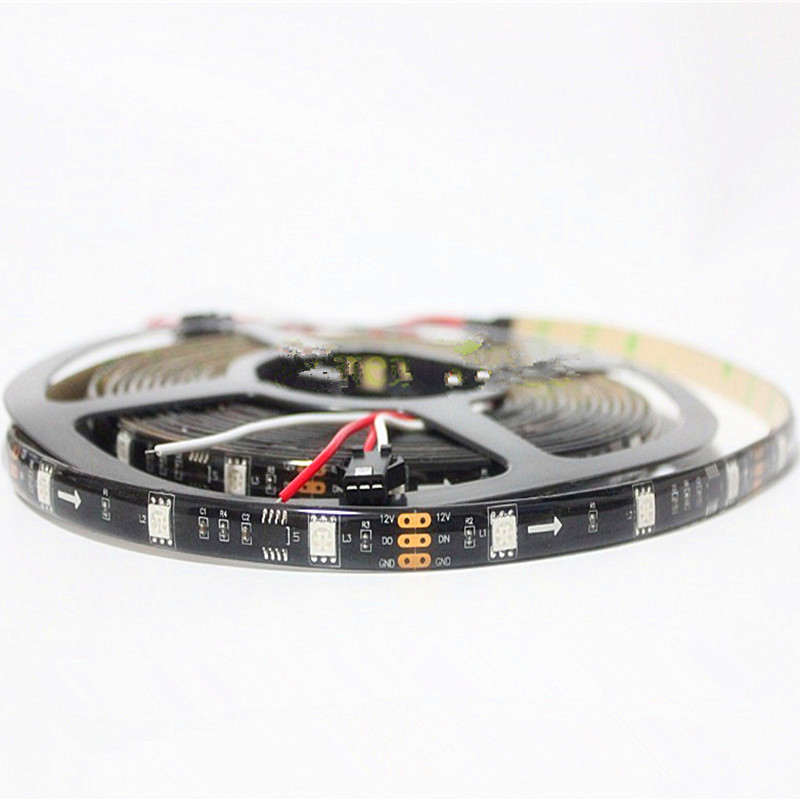 Solid color ws2811 led strip solar address soft flex strips wholesale For Advertising Lighting