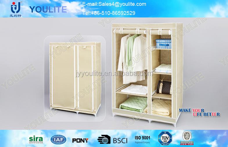 Advanced Stand Assemble Plastic Portable Wardrobe Closet