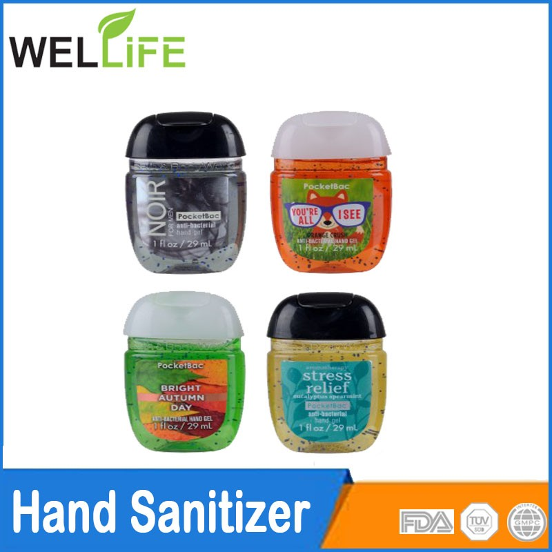 mini convenient flower and fruit waterless Hand sanitizer 30 ml