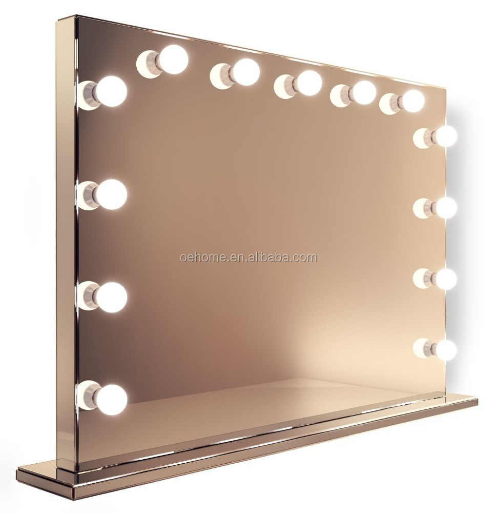 mirror finish hollywood makeup mirror with warm white dimmable led lamps k253ww buy round wall. Black Bedroom Furniture Sets. Home Design Ideas
