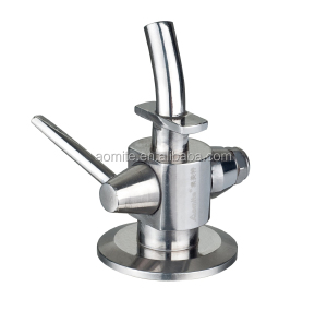 high quality sanitary stainless steel wine sample valve made in china