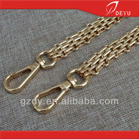 light gold bag chain with clasp hooks