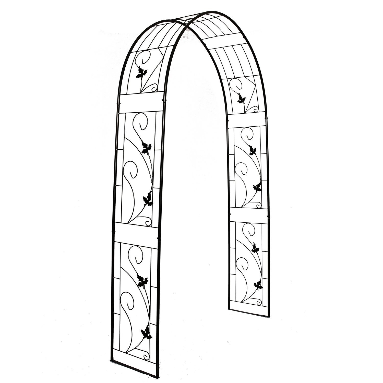 """Better Garden Steel Garden Arch, 7'3"""" High x 4'6"""" Wide, Garden Arbor for Various Climbing Plant, Outdoor Garden Lawn Backyard"""