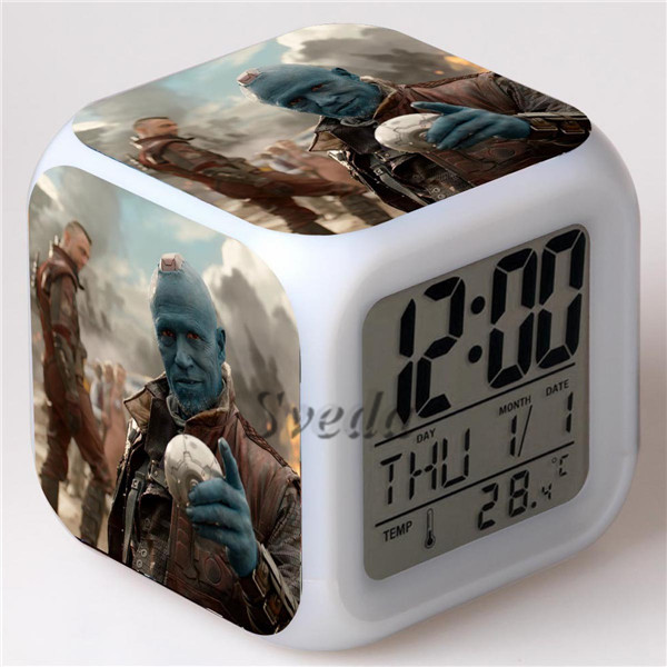 Hot Movie Guardians of the Galaxy II LED alarm clock, Digital LCD clock for kids