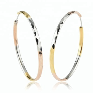 simple design big color Circle Hoop Earring wholesale