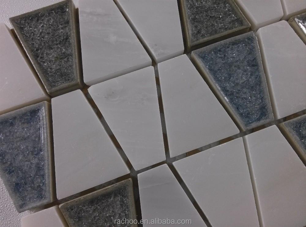 Weißem marmor mischen blau keramik mosaik-fliesen Küche und Bad ...