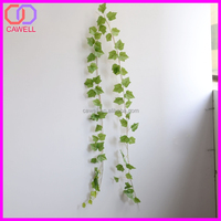 artificial green leaves string climbing hanging wall