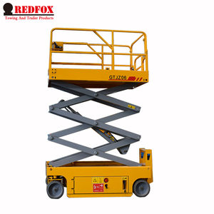 Easy Control Four Wheels Mobile Hydraulic Scissor Lift Platform