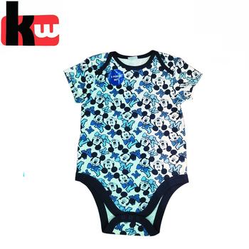 bdcb1dc4214e Summer short style baby clothing allover printed baby boy clothes body