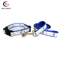 Amazon top seller 2017 custom dye sublimation printing polyester dog collar leash