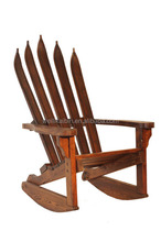 ski Solid wood Adirondack Chair Wooden Gardon wooden rustic chair