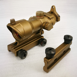 Gold color red dot sight tactical for .223/5.56 salt gun acog sight riflescope with 20/11mm rail mount