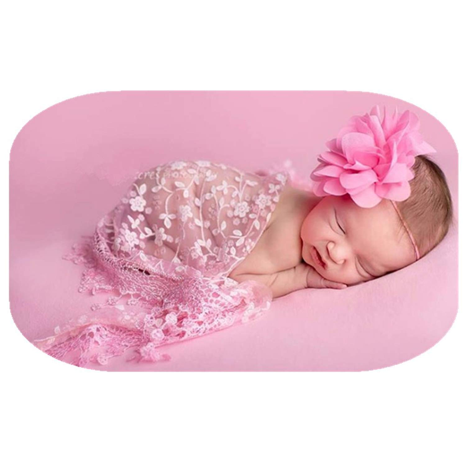 Coberllus Newborn Boy Girl Photography Props Newborn Wraps Baby Photo Shoot Outfits Wrap Lace Yarn Cloth Blanket