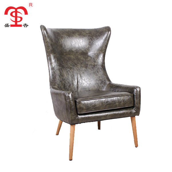 Cheap french furniture style brown leather dining room chair
