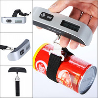 110Lb*0.02Lb Portable LCD Electronic Hanging Digital Luggage Scale Pocket Weighting Scale Weight Scales Balance 50kg*10g