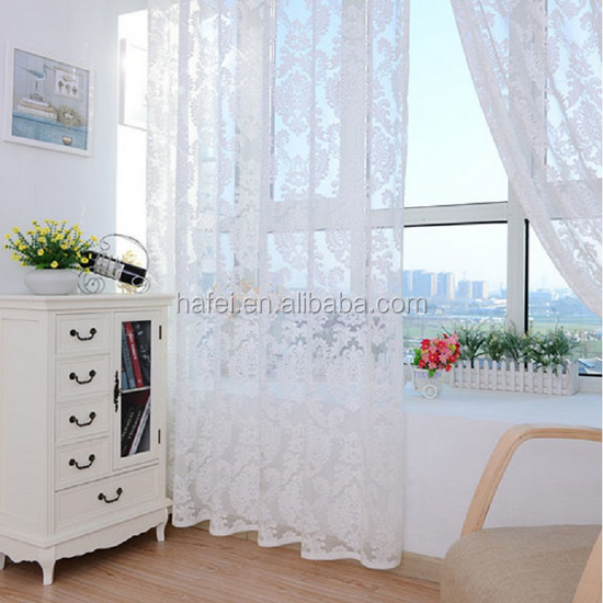2017 new European style cheap tulle fabric living room sheer curtain