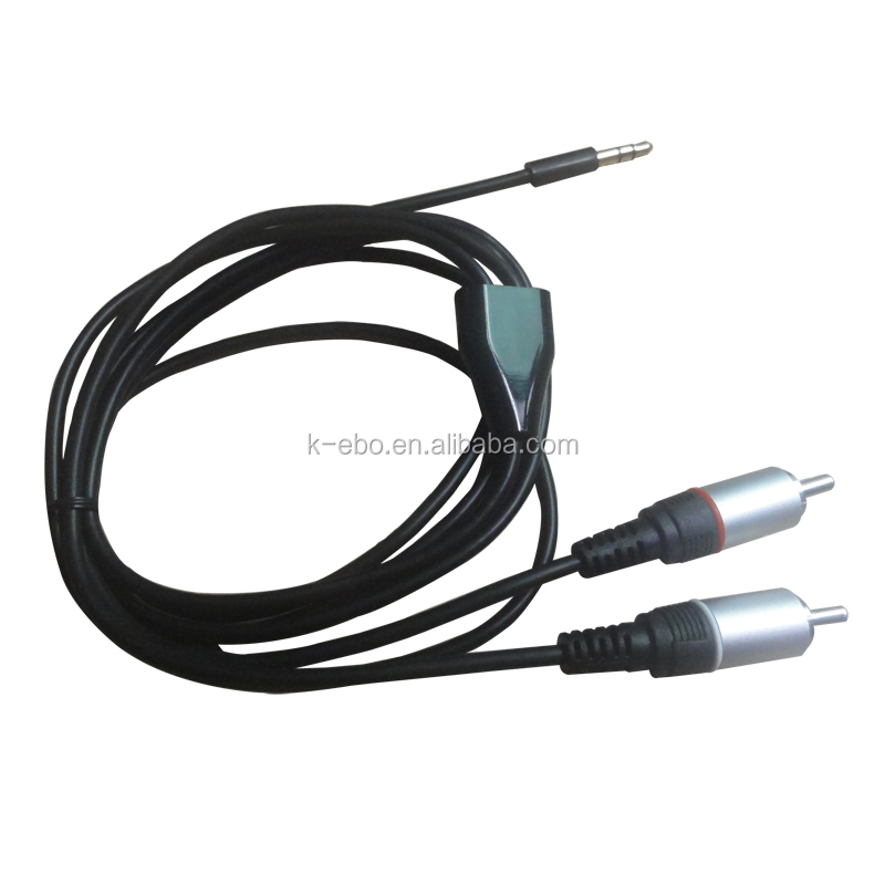 2meter 6ft 3.5mm Male to 2RCA Male Aux Cable L R Plug Audio Cable Cord