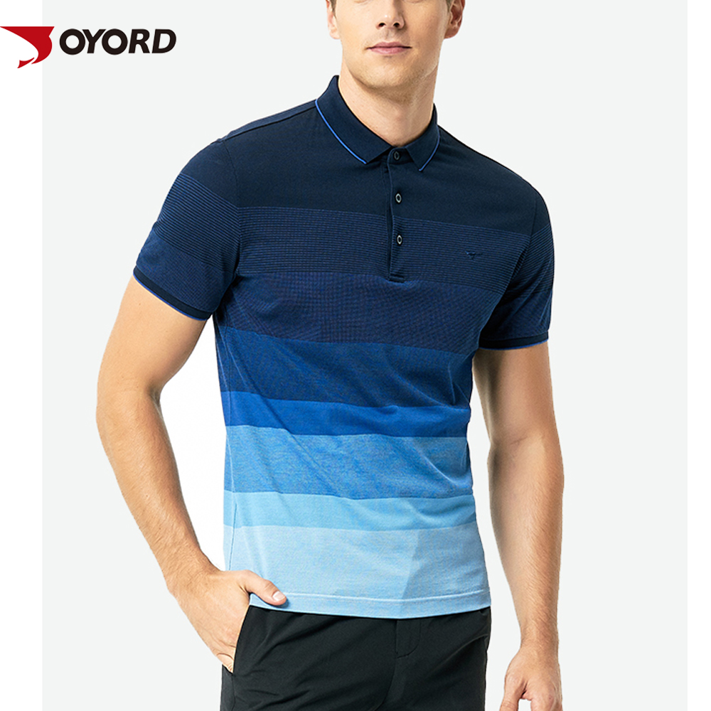 8be9019db8 Custom Latest Design Sublimated Color Combination Wholesale Men'S Striped  Rugby Youth Casual Polo Shirt