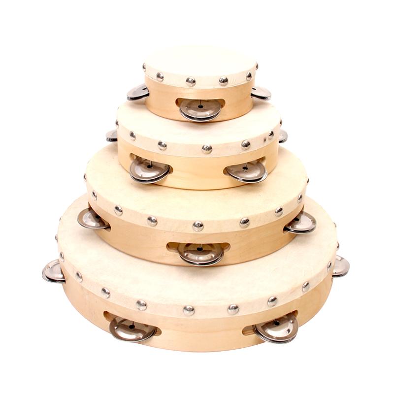 Mini educational toys percussion instruments tambourine wood drum set