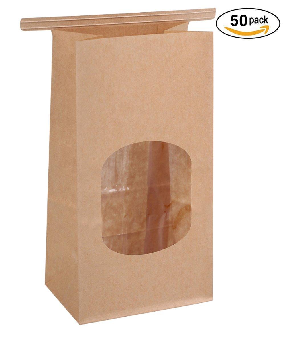 4d308bd4d2 Get Quotations · BagDream Bakery Bags Wax Kraft Paper Bags 50Pcs  3.54x2.36x6.7