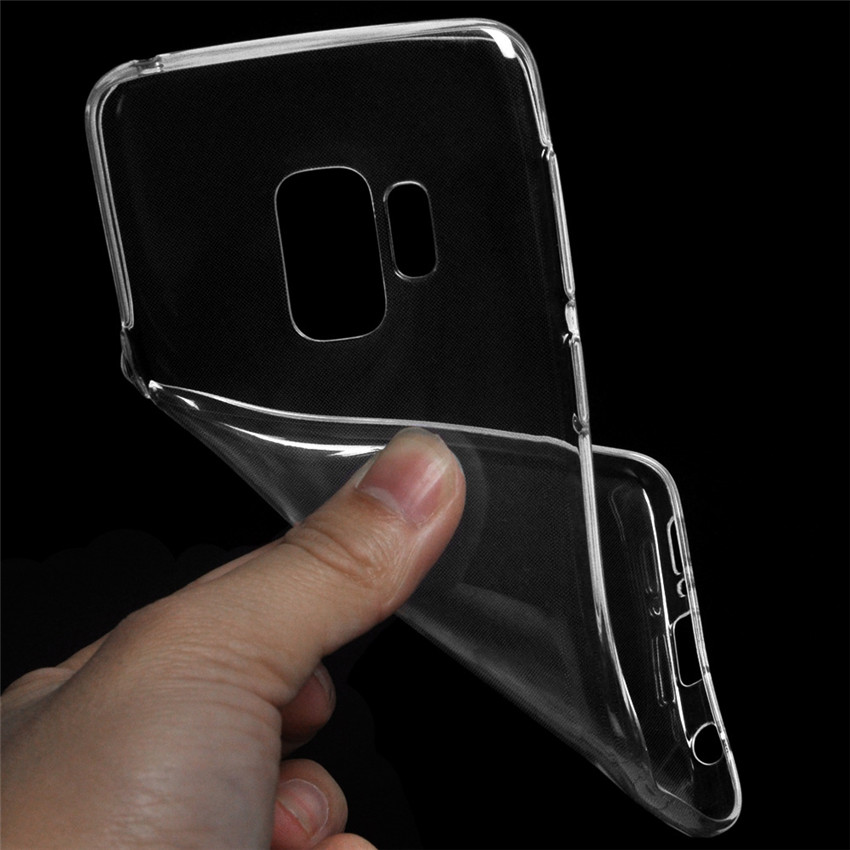 Wholesale Lightweight Slim Phone Case For iPhone Soft TPU Transparent Protector Clear Mobile Case For Sansung S9 MK2076