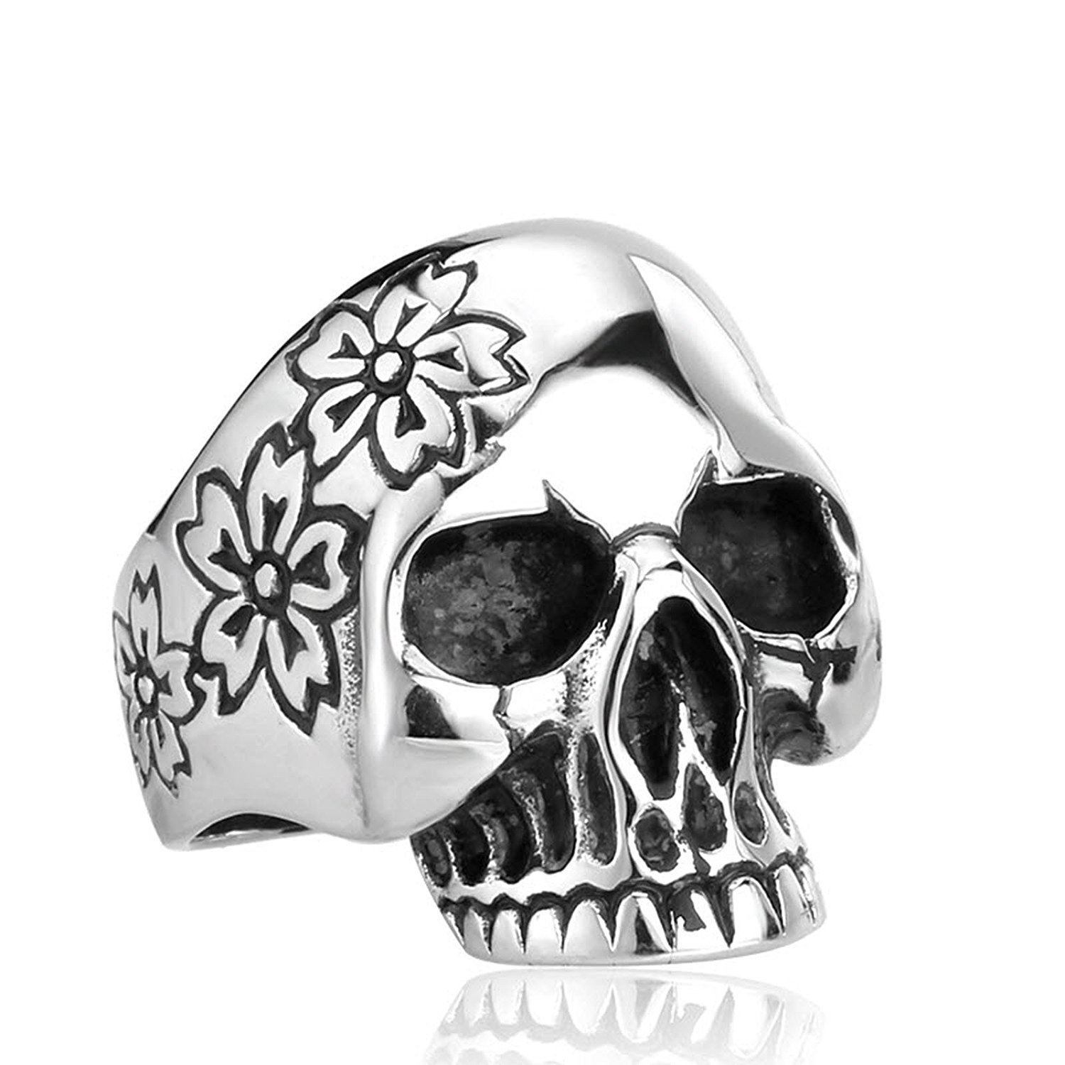gothic colour ring co jewellery konov with stainless silver black amazon men vintage skeleton rings hand uk size gift skull s dp p steel bag