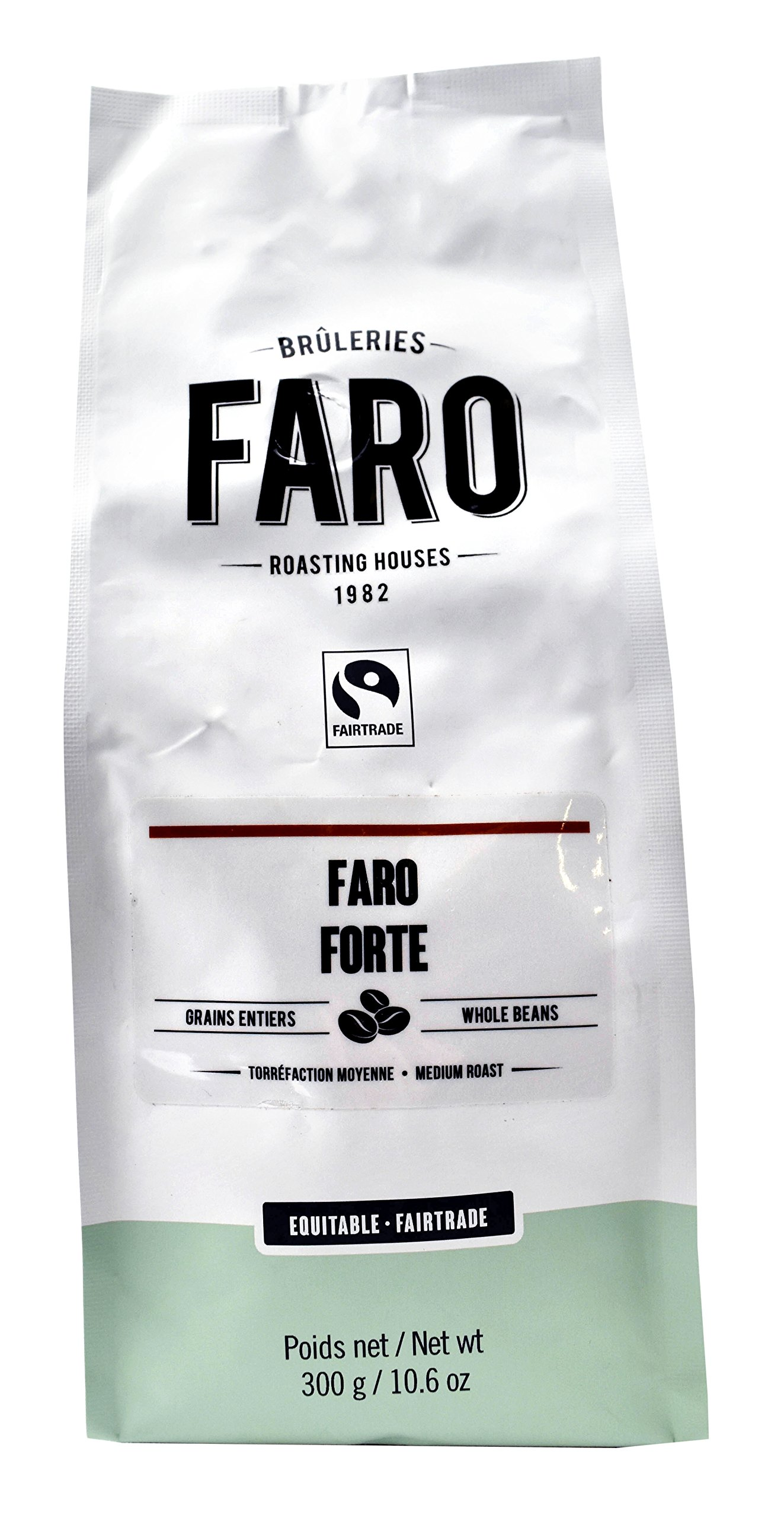 Faro Roasting House Forte Espresso Blend Whole Coffee Beans 10oz, Classic Delicious Neapolitan Blend Coffee, Certified Organic and Fair Trade - Fresh Medium Roast Whole Bean Coffee (10 Ounce Bag)