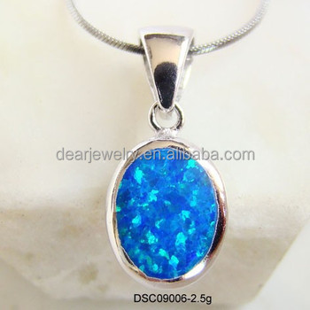 Man made opal jewelry925 sterling silver blue fire opal pendants man made opal jewelry 925 sterling silver blue fire opal pendants mexican opal aloadofball Images