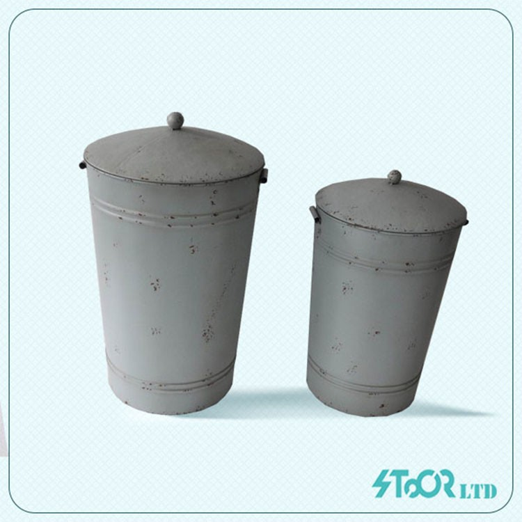 Wholesale hand painted natural silver metal flower pot for plant