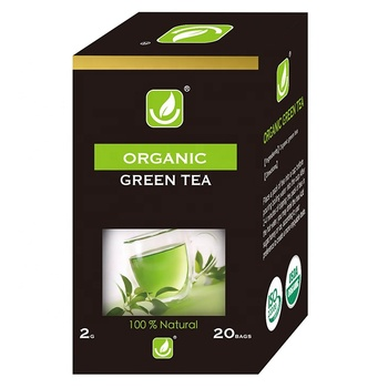 Organic Green Tea Bagged Packing 20 Tea Bags Per Box with Private Label and Adorable Price