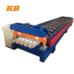 trapezoidal roofing sheet forming, high rib roof forming machine