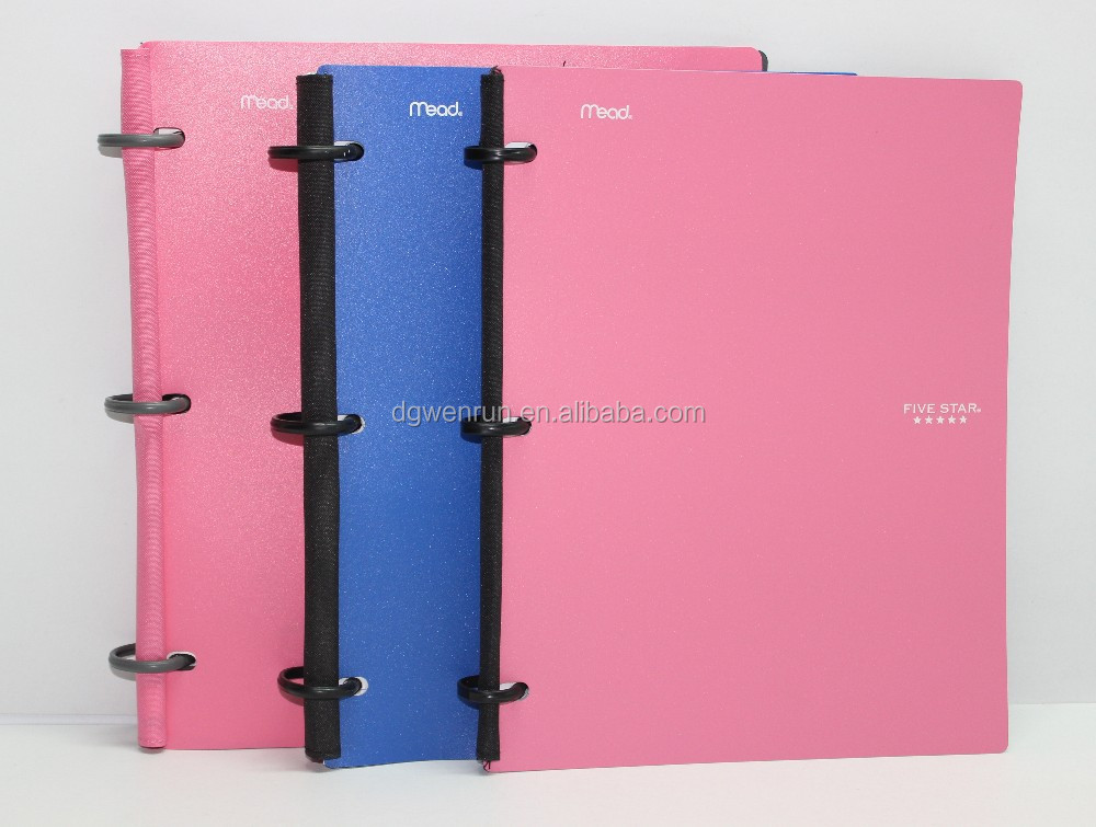 Elastic band eco-friendly pp advertising notebook