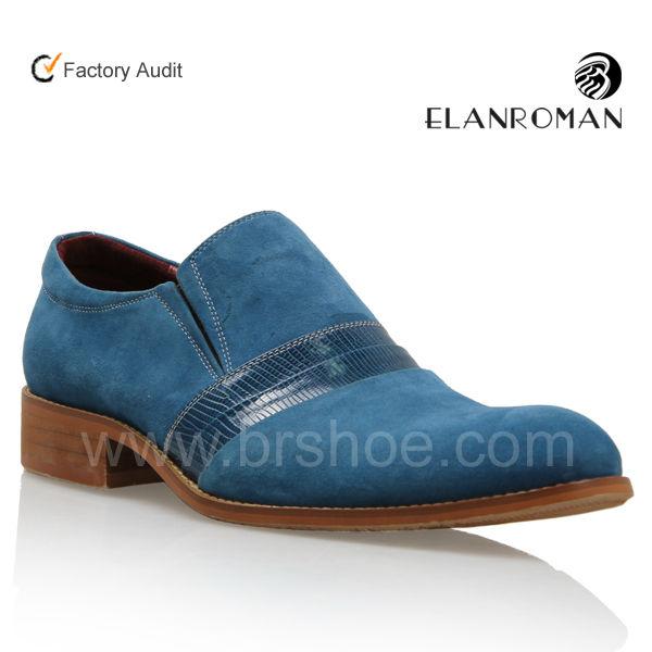 Blue shoes men's dress brand fashion qUqW1z