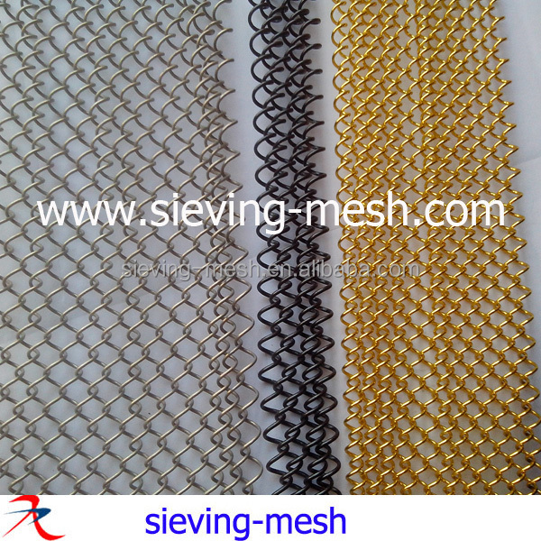 Hotel Metal Wire Mesh Curtain / Metal Woven Wire Fabric/ Metallic Mesh  Drapery