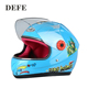 Professional protection smooth surface blue full face kids motorcycle helmets