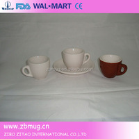 Oversized Ceramic Coffee Tea Cups With Saucers Sets