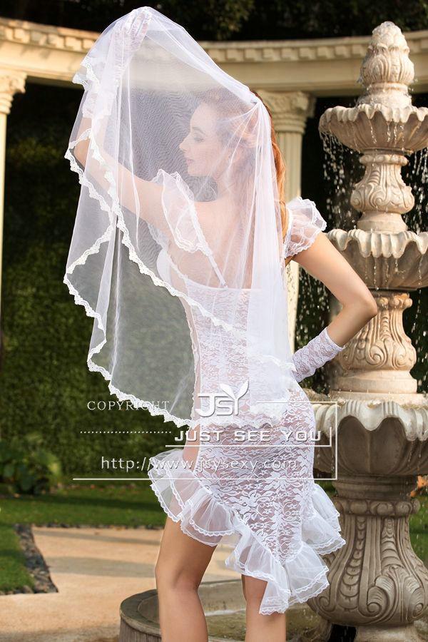 Hot Sexy Wedding Dress White Beauty Women Costume Playwear