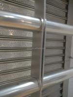 Thickness 0.6mm Exterior Garage Front Door Designs Security Iron Grille Door