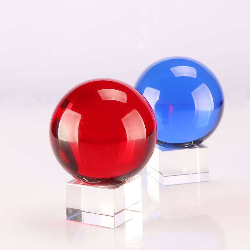 Custom Personalized christmas 100mm 150mm 180mm 200mm K9 crystal-ball glass magic red style crystal ball 300mm for home Dec