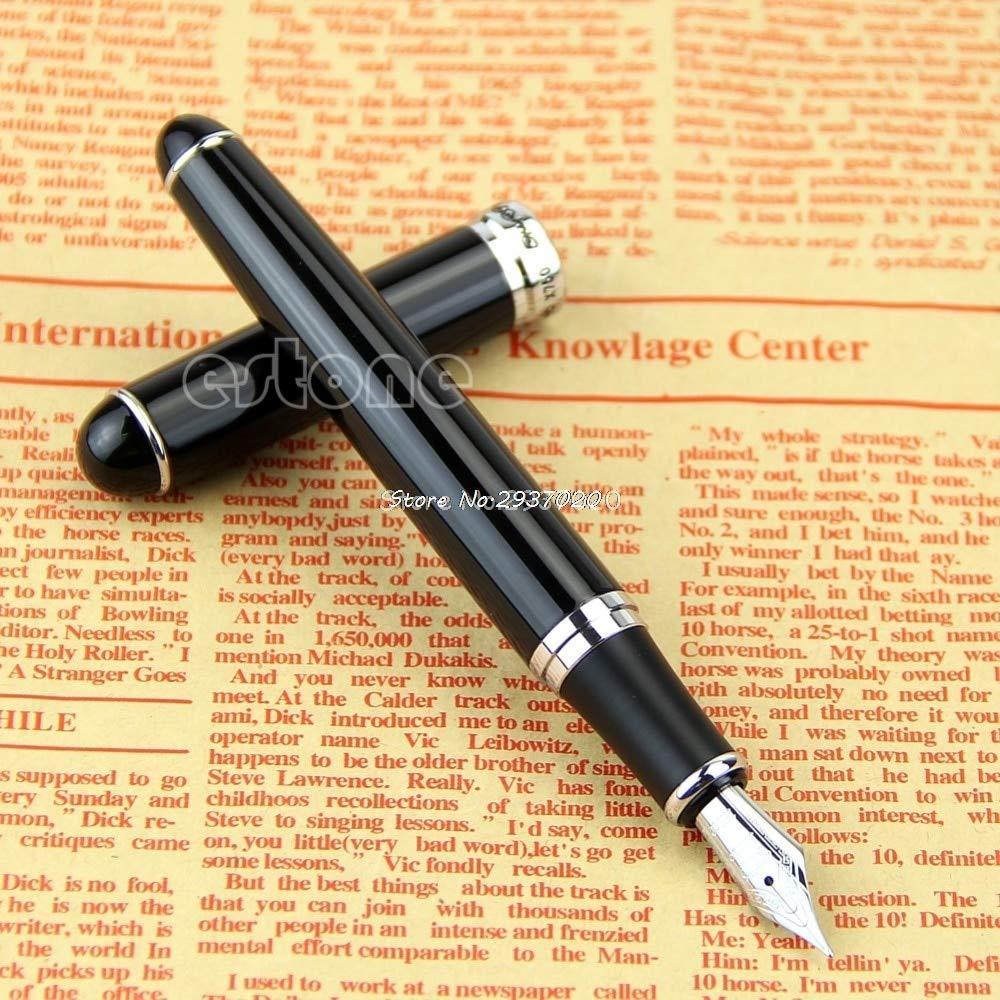 AZSNOW New Jinhao X750 Deluxe Black Medium Nib 18kgp Fountain Pen D14