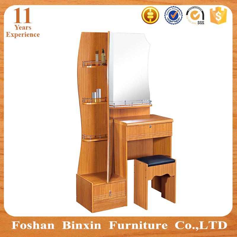 Simple muebles de madera dormitorio moderno espejo tocador ...