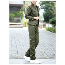 Wholesale Factory Supply Custom Sexy Girls Military Suit Olive Green Uniform
