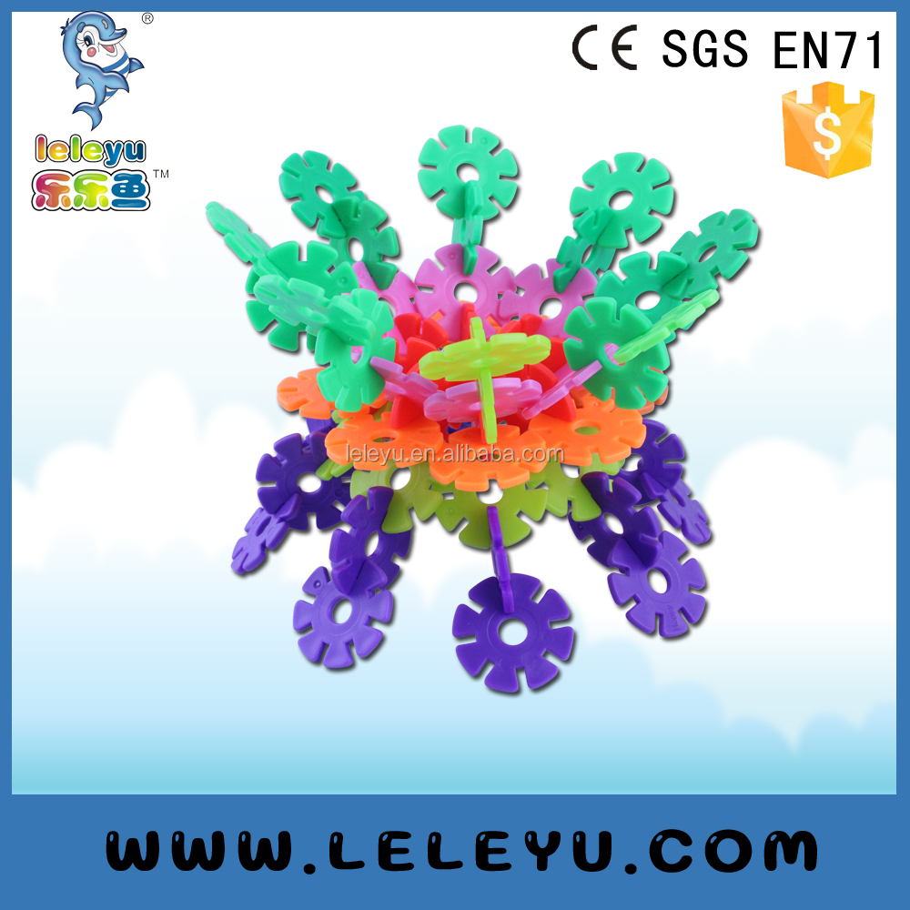 Plastic Snowflake Puzzle Building Blocks Toy