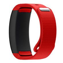 Часы ремешок 2018 Роскошные спортивные силиконовые часы сменный Браслет для часов браслет ремешок для samsung gear Fit 2 Watch часы браслет(Китай)
