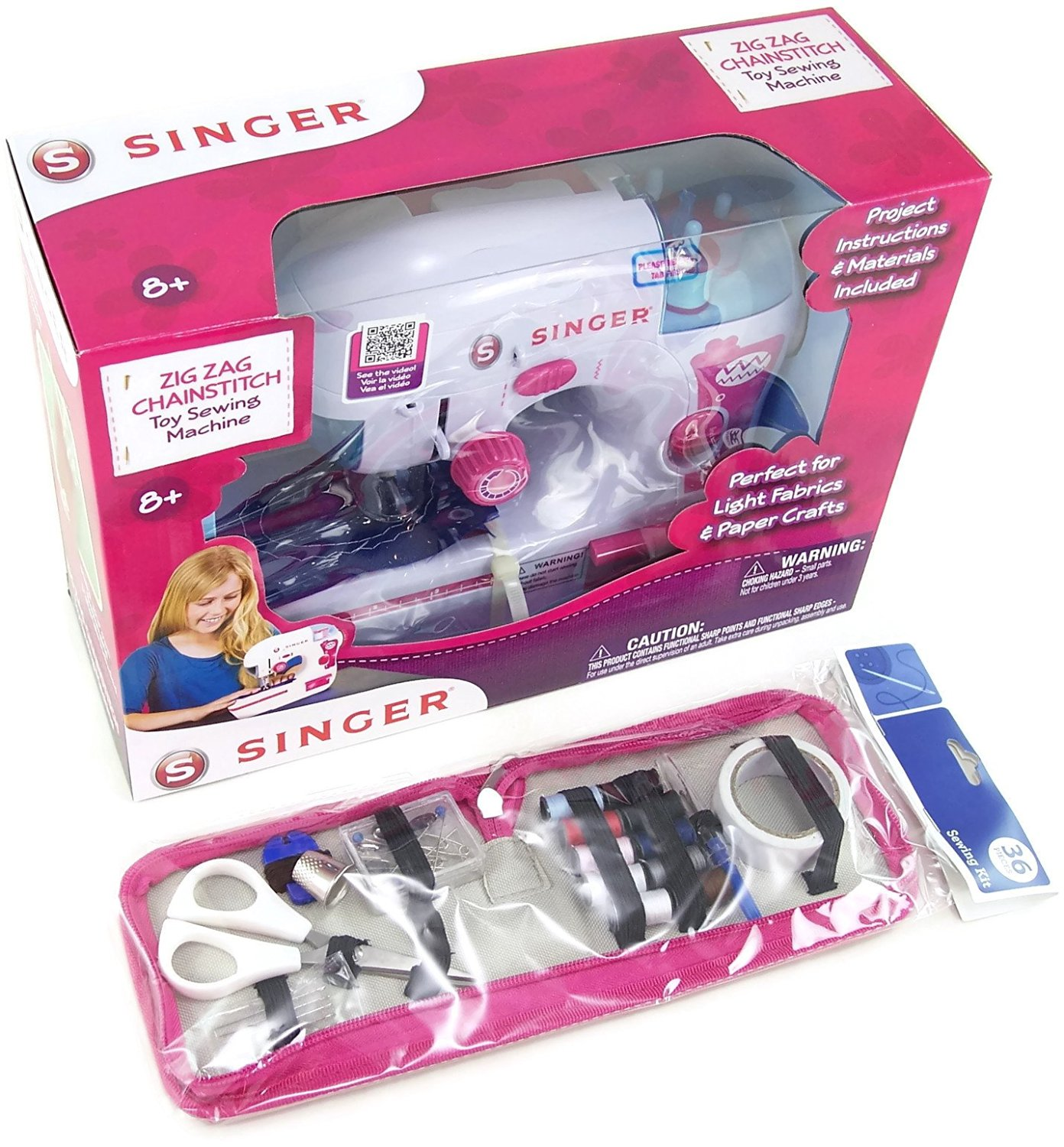 Cheap Singer Chainstitch Find Deals On Line At 401 Sewing Machine Threading Diagram Get Quotations Zigzag Toy With A 36 Piece Kit Bundle