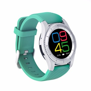 G8 bluetooth 4.0 round touch screen smartband watch phone with heart rate and blood pressure