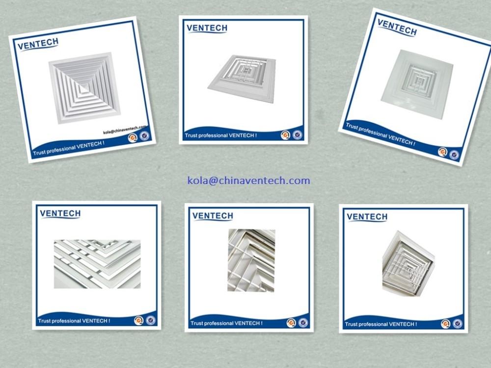 Construction Building Air Ventilation Rectangle Air Diffuser ...