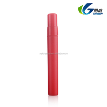 10ml China Red micro pp plastic pen shaped cheap empty perfume mist sprayer